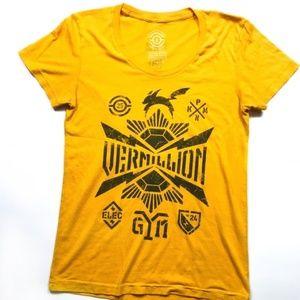 ❤️ PKM Gym Trainer Vermillion Yellow T-Shirt :170